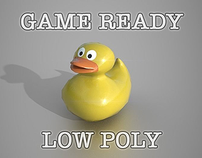 3D model Yellow Rubber Duck Toy Low-poly game ready
