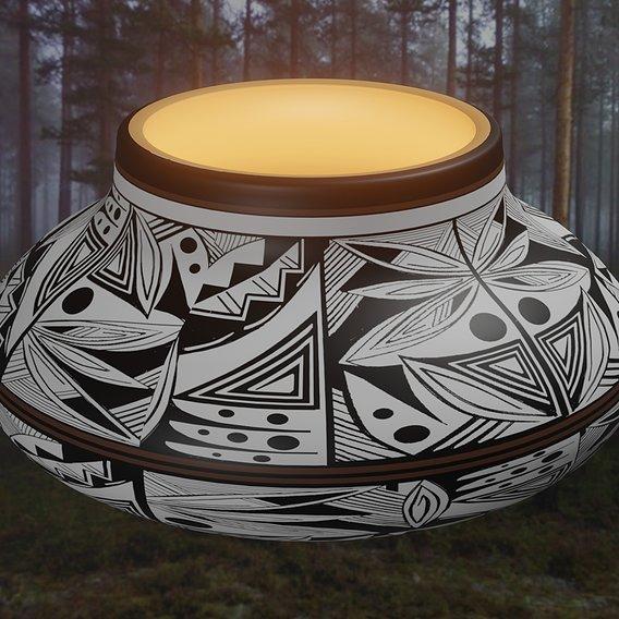 Native American pottery #11 model