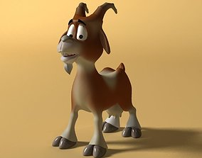 3D asset Cartoon Goat Rigged and Animated