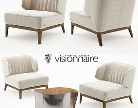 Blondie armchair with Cyborg large table - Visionnaire 3D