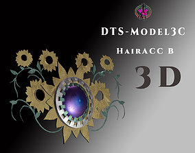 3D asset DTS - Model 3C - Hair Acc-B