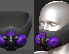 low-poly Gad mask respirator scifi futuristic 3d model