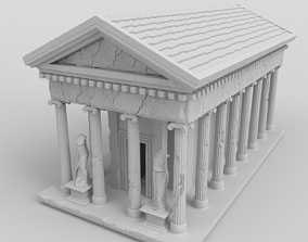 3D print model Greek temple with statues