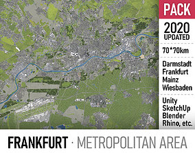 Frankfurt Metropolitan Area 3D model region