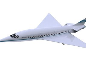 3D model Boom XB-1 Supersonic Airplane