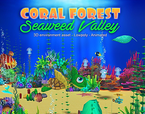Coral Forest - Seaweed Valley 3D model