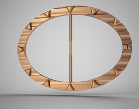 3D printable model Wavy Arrow Belt Buckle