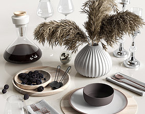 Table settings with reed 3D