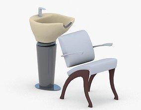3D model 0890 - Hairdresser Chair