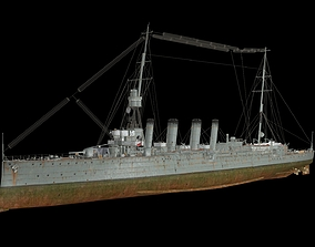 HMS Weymouth WW1 1910 3D model