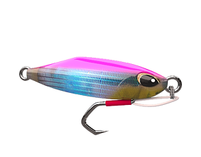 game-ready metal Jig 3D model Fishing Lure Low-poly 3D 1
