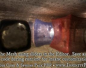 Gelatinous Cube and Sphere Pack PBR 3D asset