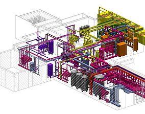 plumping Revit MEP Hospital Project Model