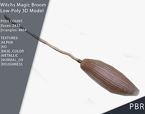 Witches Magic Broom for Flying Game Ready 3D model