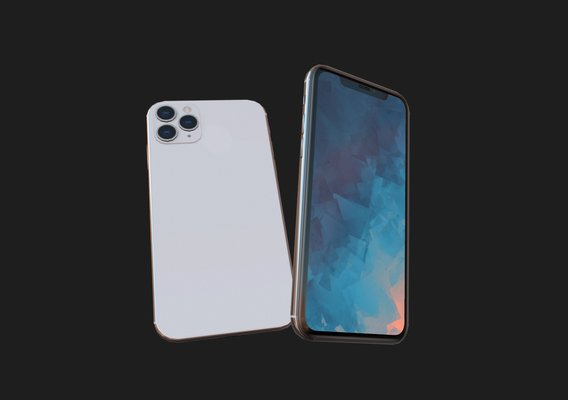 2019 iphone 11 pro  pbr/lowpoly game asset  update