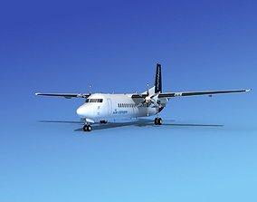 3D Fokker 50 KLM City Hopper 2