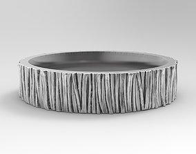 3D print model gold Wood ring