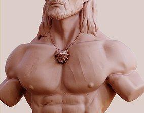 Geralt of Rivia 3D model print 3dprint