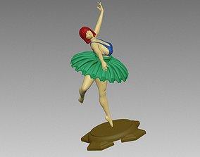 Female Woman Ballet poses N001 3D print model