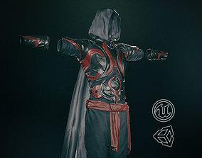 Male Assassin Outfit 1 3D asset