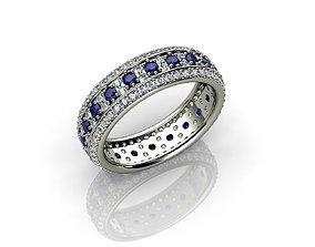 3D print model Diamond and Sapphire Wedding Ring