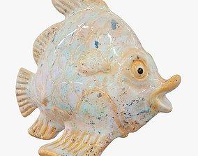 3D Ceramic Fish Figurine