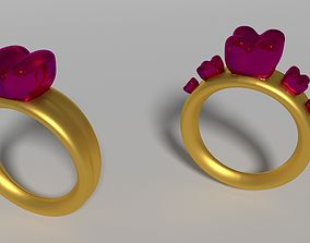 Heart ring two model
