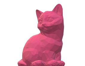 3D printable model Cat 2 low poly