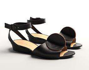 Bijou Leather Strap Sandals 3D