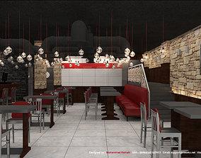 Restaurant Fast Food Interior 3D Model
