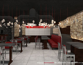 Restaurant Fast Food Interior 3D Model