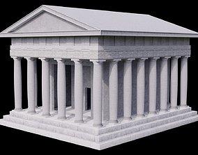 3D model PBR Greek Temple