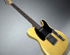 guitar Fender Telecaster 3D