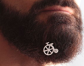 Old bike for beard - front wearing 3D print model