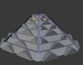 ancient temple archeology 3D asset VR / AR ready
