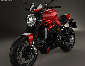3D model Ducati Monster 1200 R 2016 vehicle
