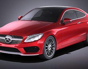 3D model Mercedes-Benz C-class Coupe 2018 VRAY