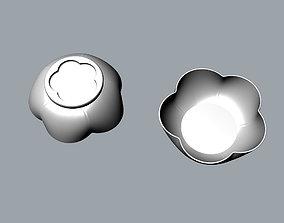 Children Plum flower ceramic bowl 3D model