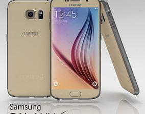 Samsung Galaxy S6 Gold Platinium 3D asset