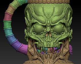 3D model for printing on 3D printer skull mug
