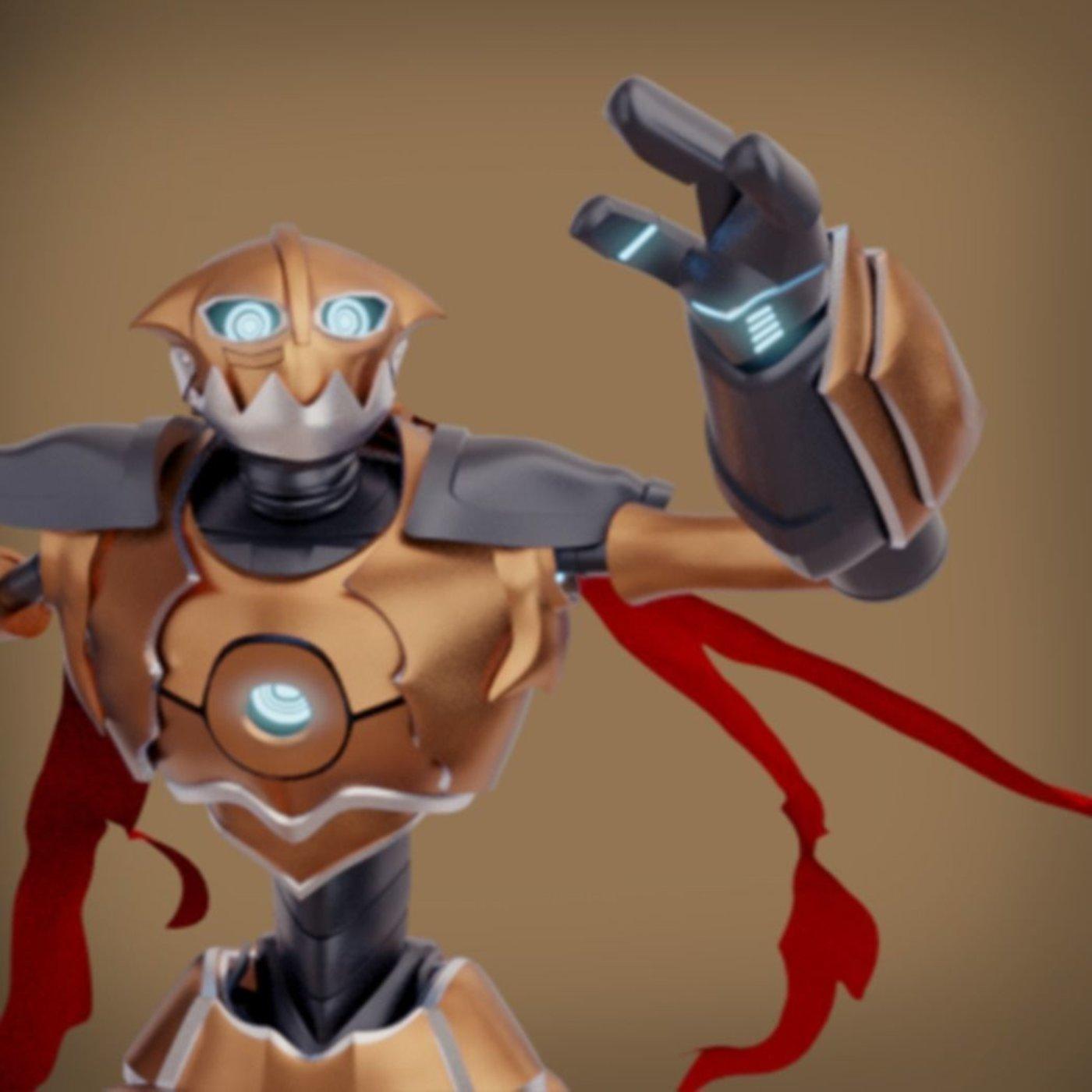 Skater robot_rigged character