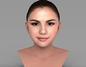 Selena Gomez bust ready for full color 3D printing