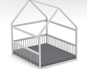 Bed Scandinavia loft 3D model