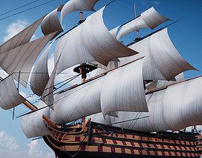 HMS Victory 3D asset
