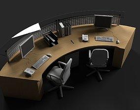 office chair Reception Desk 3D model