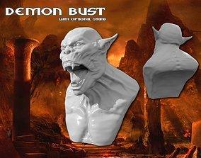 Demon Bust HD 3D printable model