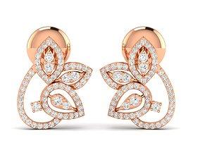 Women earrings 3dm stl render detail printable gem