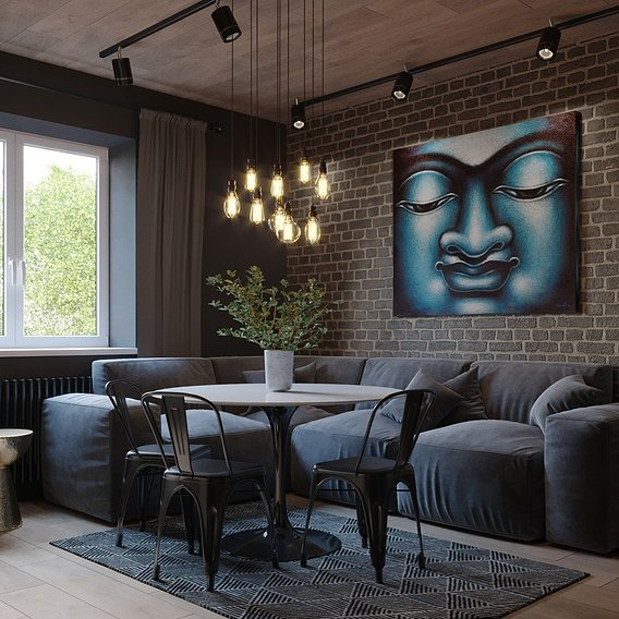Kitchen with Buddha