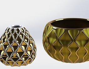 GOLDEN VASES 3D printable model