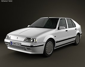 3D model Renault 19 5-door hatchback 1988